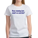 Does running late count as exercise? Tee