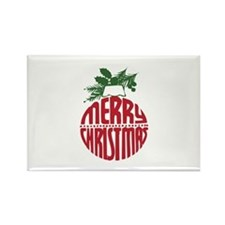 Merry Christmas Rectangle Magnet (100 pack)