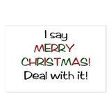 I say MERRY CHRISTMAS! Postcards (Package of 8)