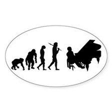 Concert pianist composer Oval Decal