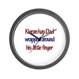 Kieran -  Dad Wrapped Around  Wall Clock