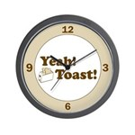 Yeah! Toast! Wall Clock