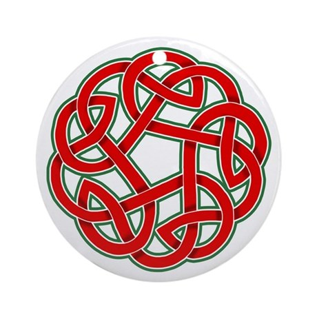 Celtic Christmas Knot Ornament (Round)