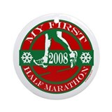My First Half Marathon - 2008 Ornament (Round)