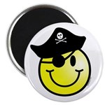 Smiley Pirate Magnet