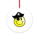 Smiley Pirate Ornament (Round)