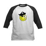Smiley Pirate Kids Baseball Jersey