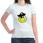 Smiley Pirate Jr. Ringer T-Shirt