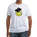 Smiley Pirate Fitted T-Shirt