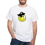 Smiley Pirate White T-Shirt