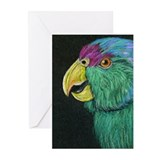 Cute Lilac crowned amazon Greeting Cards (Pk of 10)