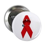 AIDS RIBBON Button