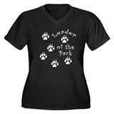 DOGGY Leader of the Pack Women's Plus Size V-Neck