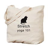 Cat Stretch Yoga Tote Bag