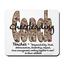 Cheer Coach Floral Pattern Mousepad