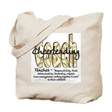 Cheer Coach Spiral Pattern Tote Bag