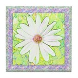"Tile Coaster, ""Daisy of Spring"" by Scout DeWitt"