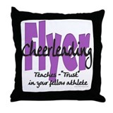 Cheer Flyer Purple Throw Pillow