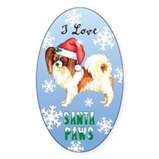 Holiday Papillon Oval Decal