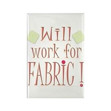 Will Work For Fabric Rectangle Magnet (10 pack)