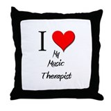 I Love My Music Therapist Throw Pillow