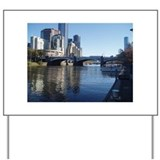 Melbourne Yarra River Yard Sign