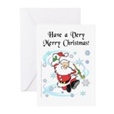 Dancing Santa Christmas Cards (Pk of 20)