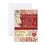 Friendships are Like Quilts Greeting Cards (Pk of