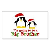 penguin big brother surprise Rectangle Decal
