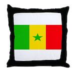 Senegal Blank Flag Throw Pillow