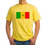 Senegal Blank Flag Yellow T-Shirt