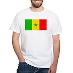 Senegal Blank Flag White T-Shirt