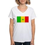 Senegal Blank Flag Women's V-Neck T-Shirt