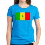Senegal Blank Flag Women's Dark T-Shirt