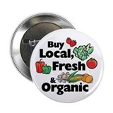 "Buy Local Fresh & Organic 2.25"" Button (100 pack)"