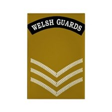 Welsh Guards Sergeant<BR> Rectangle Magnet