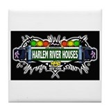 Harlem River Houses (Black) Tile Coaster