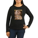 Teager Cap Pigeon Women's Long Sleeve Dark T-Shirt