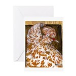 Teager Cap Pigeon Greeting Card