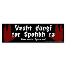 What Would Spock Do? Bumper Bumper Sticker
