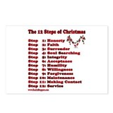 12 Steps Of Christmas Postcards (Package of 8)