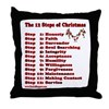 12 Steps Of Christmas Throw Pillow