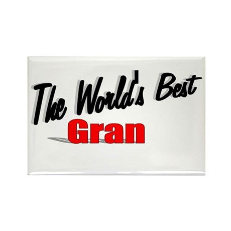 """The World's Best Gran"" Rectangle Magnet"