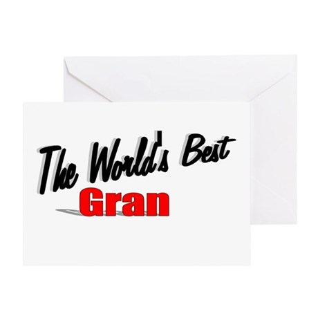 """The World's Best Gran"" Greeting Card"