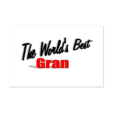 """The World's Best Gran"" Mini Poster Print"