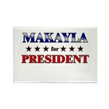 MAKAYLA for president Rectangle Magnet (10 pack)