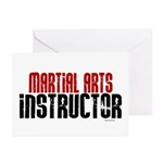 Martial Arts Instructor 2 Greeting Cards (Pk of 20