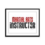 Martial Arts Instructor 2 Framed Panel Print