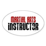 Martial Arts Instructor 2 Oval Sticker