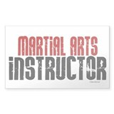 Martial Arts Instructor 2 Rectangle Decal